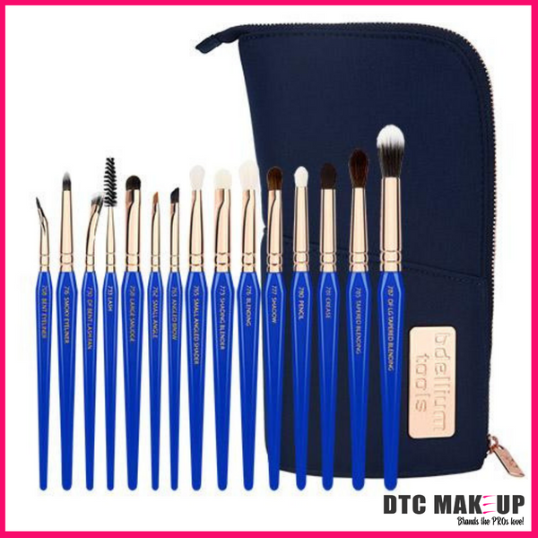 PREORDER Golden Triangle Eyes Only Complete 15Pc. Brush Set With Pouch