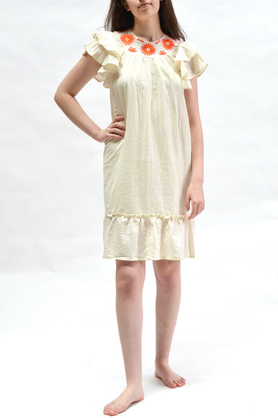 Flutter Dress in Natural by Supernaturae