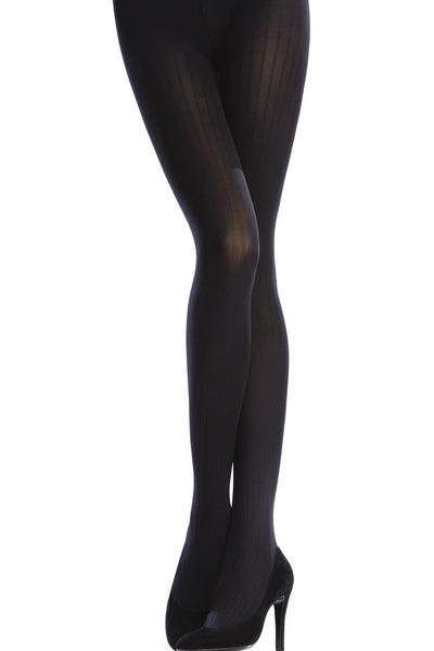 OPAQUE 3 Tights VERTICAL STRIPES 100D Navy