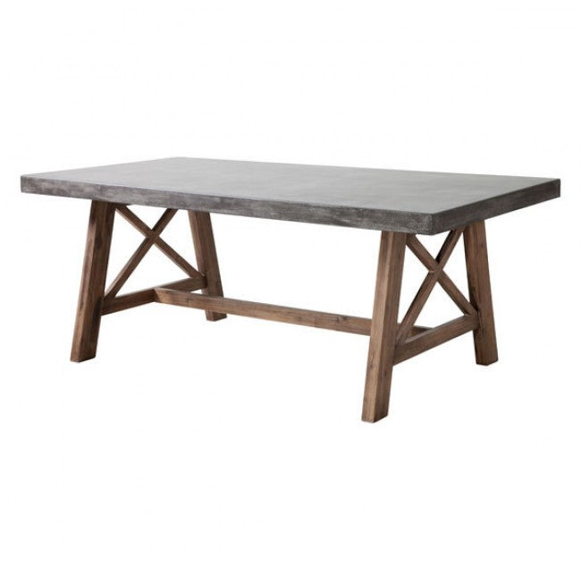Ford Dining Table - Cement & Natural