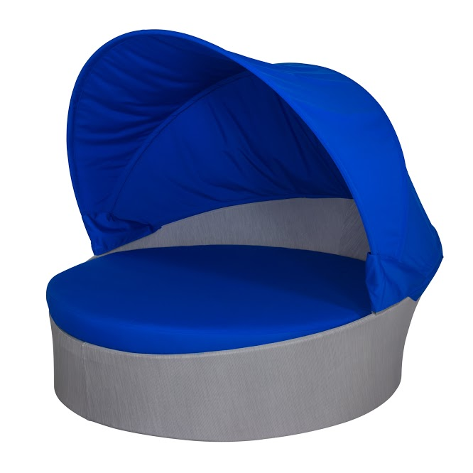 Aqua Medium Daybed w/ Canopy (Round)