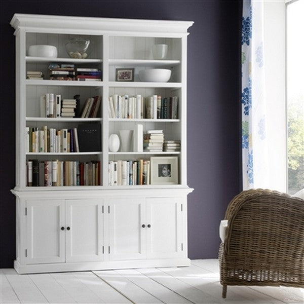 HALIFAX Twin Tower Hutch Bookcase with 10 open shelves and and two double doors CA613