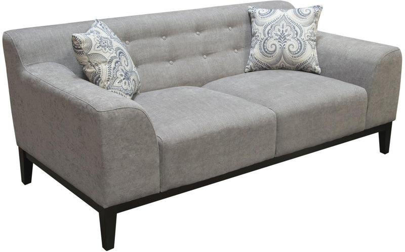 Marquee Tufted Back Fabric Loveseat - Moonstone