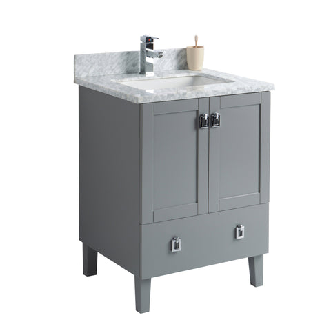 24 inch Bathroom Cabinet in Grey Rock