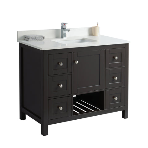 Cabinet in Espresso with Open Shelf