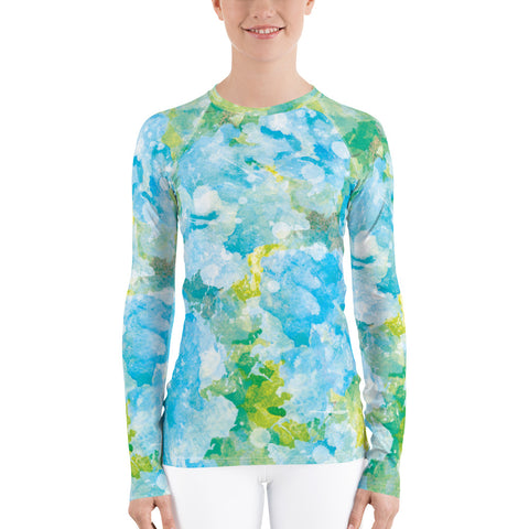 Women's UPF 40+ Rash Guard - Westminster White