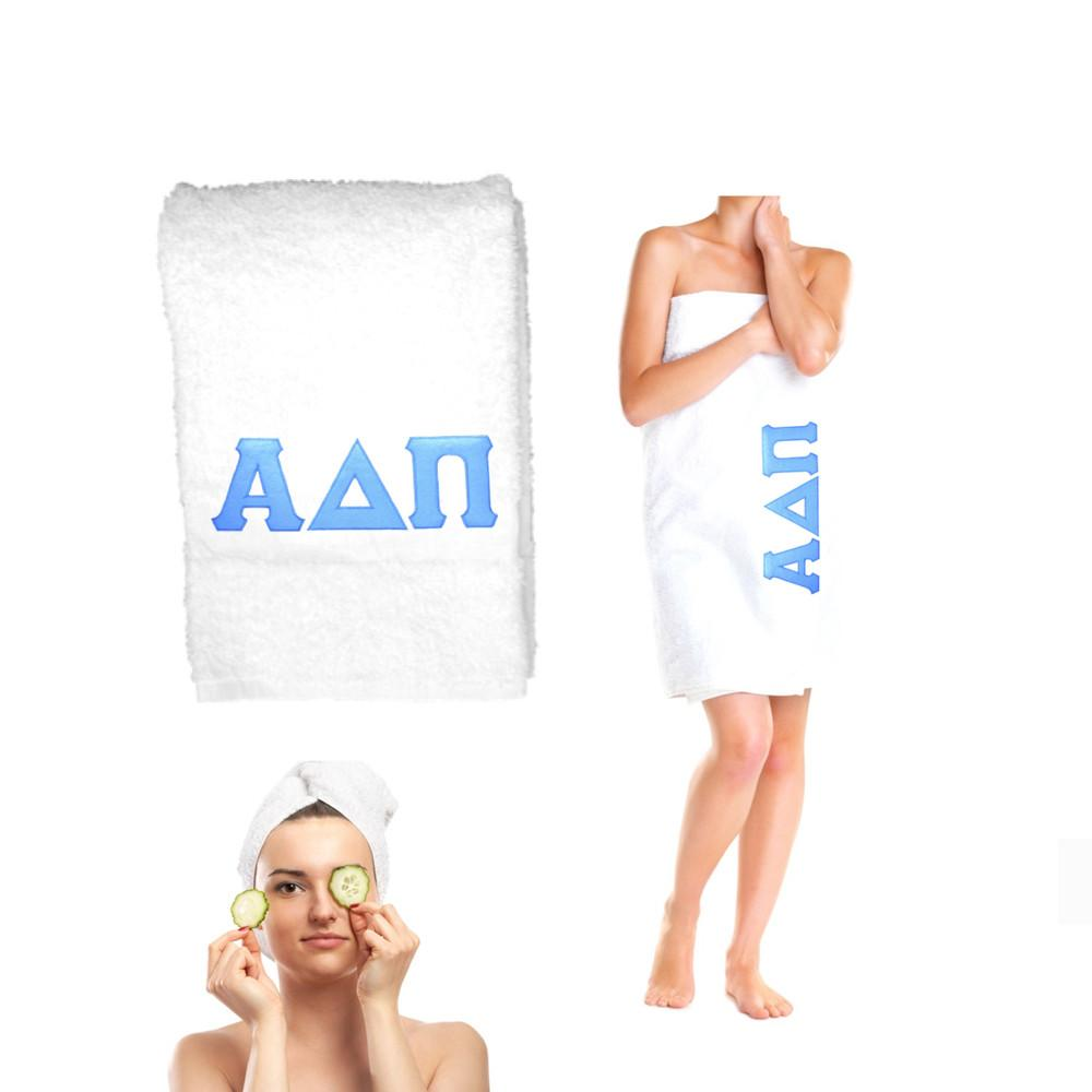 Sorority Bath TowelsStitched Greek Letters