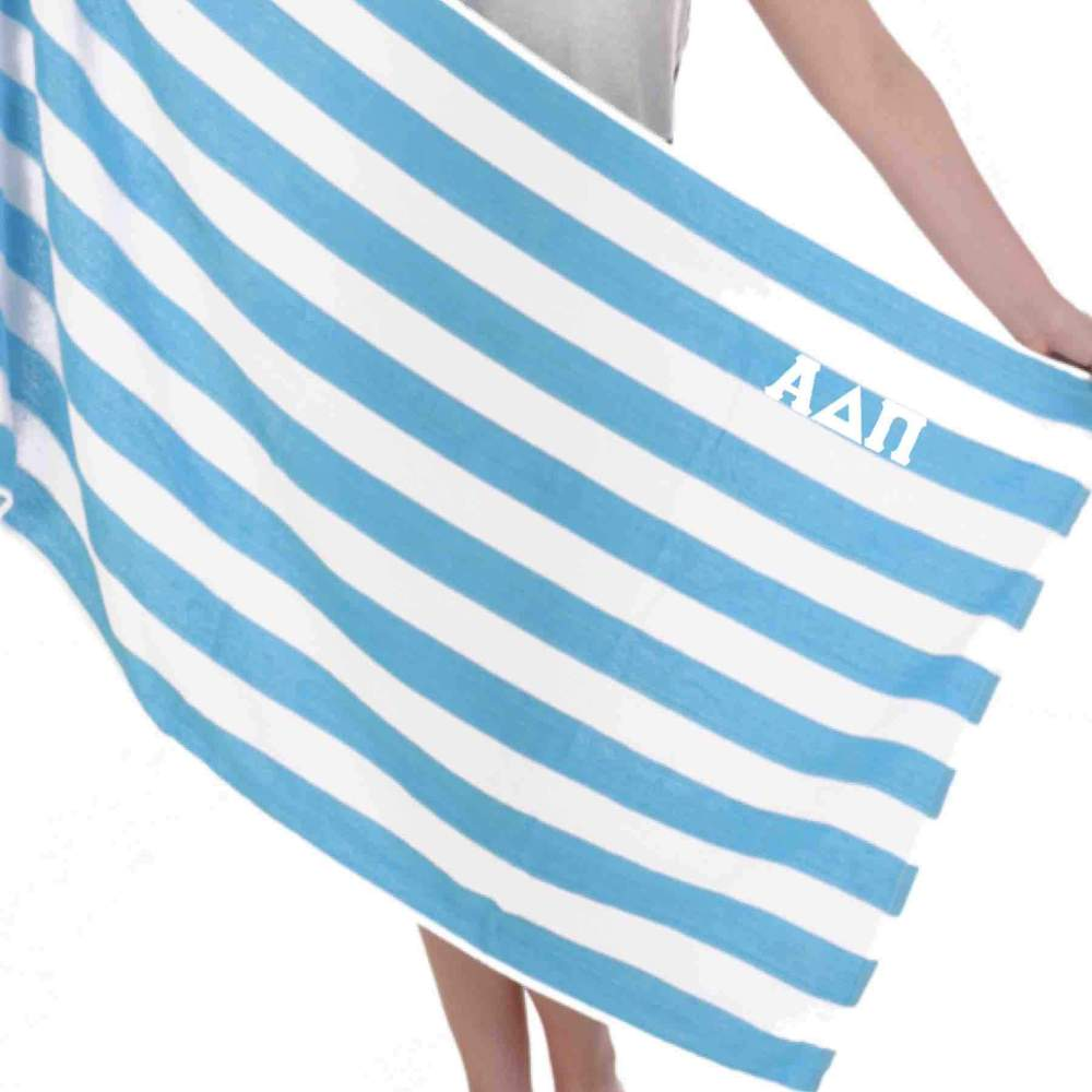 Sorority Beach TowelsStripes, Dots & Patterns Stitched Greek Lettersas low as $18.98