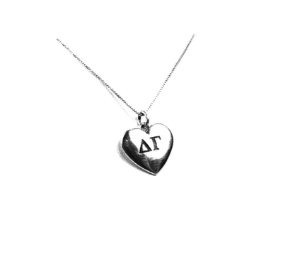 Delta Gamma charm in sterling silver for a beautiful sorority necklace.