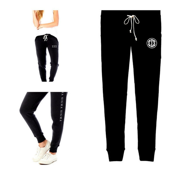 Tri Sigma Jogger Sweatpants Collection. #TriSigma clothing you will want to wear every day! #SigmaSigmaSigma