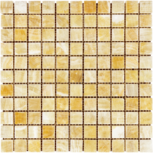 "Honey Onyx Mosaic - 1"" x 1"" Polished"