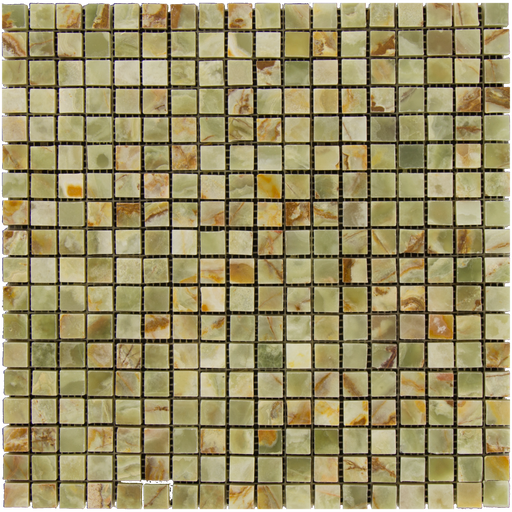 "Green Onyx Mosaic - 5/8"" x 5/8"" Polished"