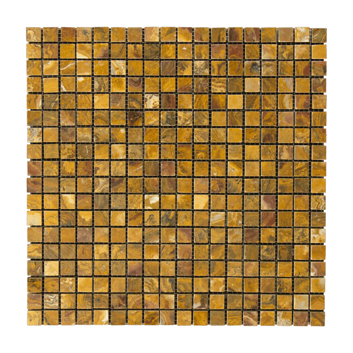"Multi Brown Onyx Mosaic - 5/8"" x 5/8"" Polished"