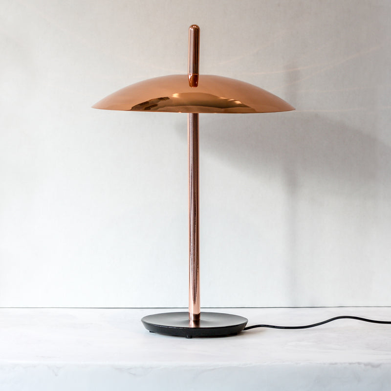 Signal table lamp in copper