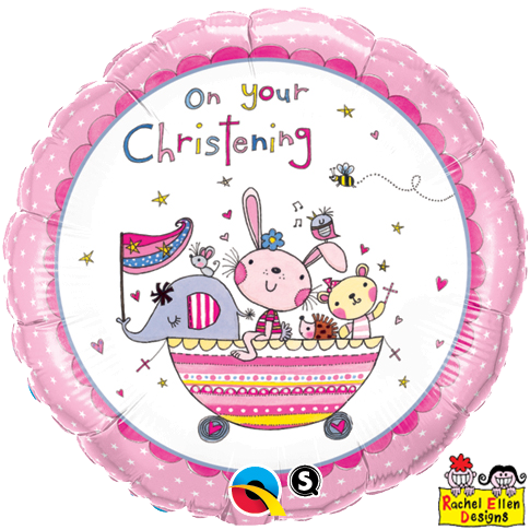 "18"" - On Your Christening Pink"