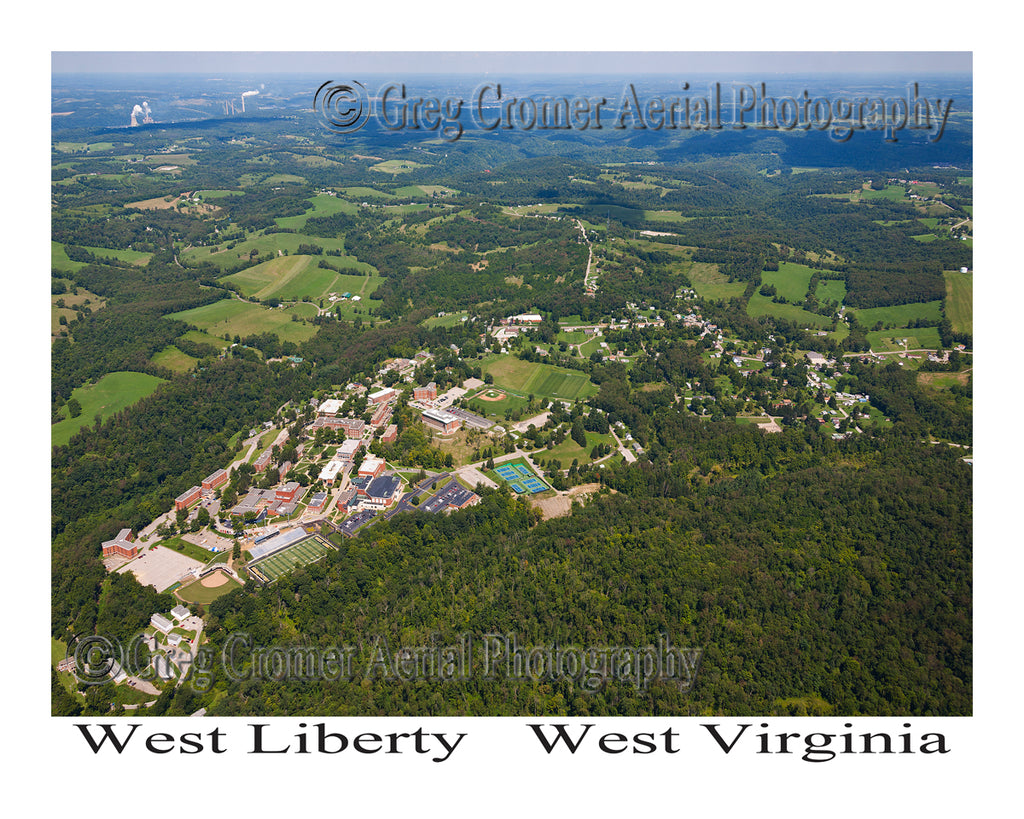 Aerial Photo of West Liberty, West Virginia