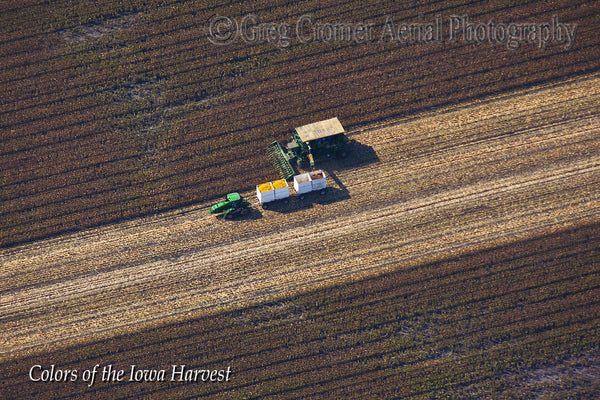 Aerial Photo - Bounty- from the Colors of the Iowa Harvest Series - Iowa