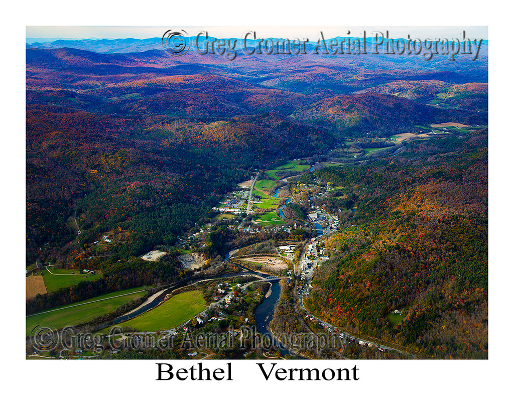Aerial Photo of Bethel, Vermont