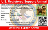 Emotional Support Animal Vest w/ Handle Basic Registration Package ($170 Value) New Item - USA Service Animal Registration