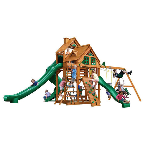 Gorilla Great Skye II Treehouse Swing Set with Amber Posts