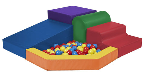 ECR4Kids SoftZone Primary Climber with Ball Pool | ELR-0833