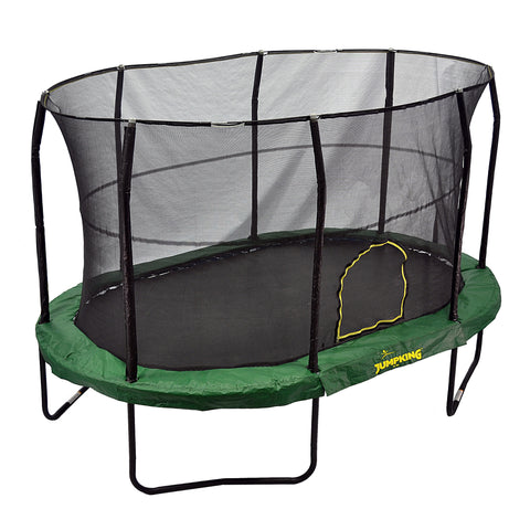 JumpKing Oval Trampoline with Solid Green Pad