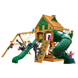 Mountaineer Treehouse with Fort Add-On and Amber Posts Cedar Playset