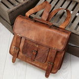 Mens Large Leather Laptop Backpack 3 in 1