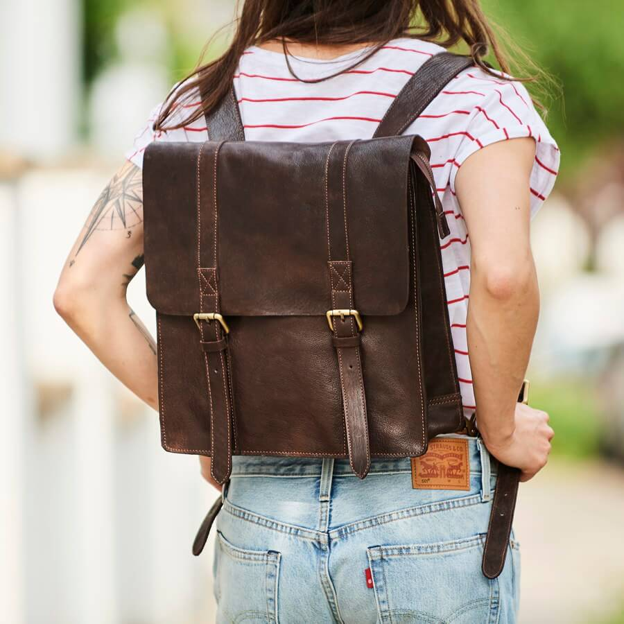 Ladies leather backpack wandering soul version