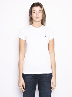 T-shirt basica in cotone Bianco-T-shirt-RALPH LAUREN-TRYME Shop