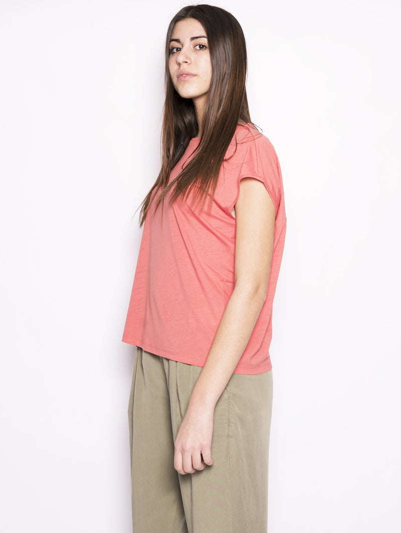 W'S Fluid Jersey te - T-shirt in jersey Corallo-T-shirt-WOOLRICH-TRYME Shop