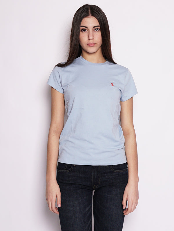 T-shirt basica in cotone Polvere-T-shirt-RALPH LAUREN-TRYME Shop