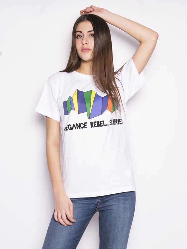 D110022X - T-shirt con stampa Coperbe Bianco-Blusa-P.A.R.O.S.H.-TRYME Shop