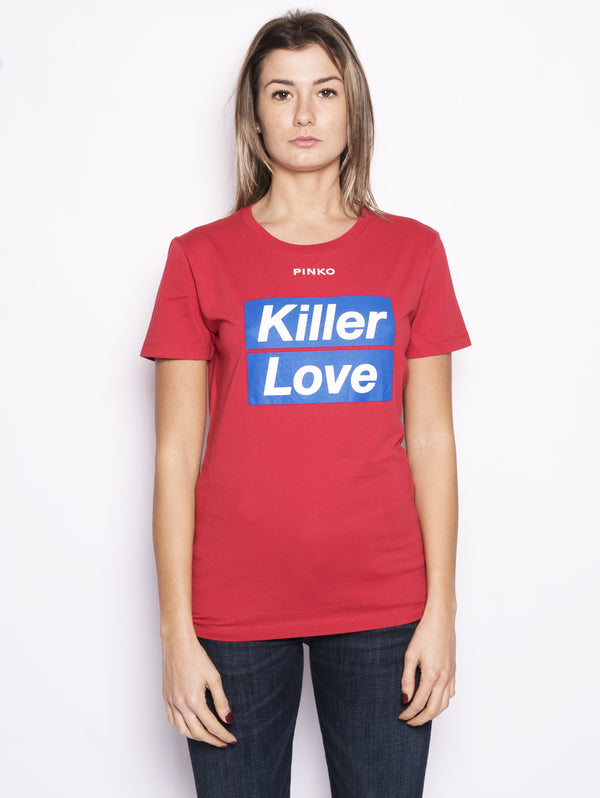 T-shirt con stampa - Spontaneo Rosso-T-shirt-Pinko-TRYME Shop
