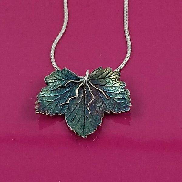 Flowering Currant Leaf Pendant