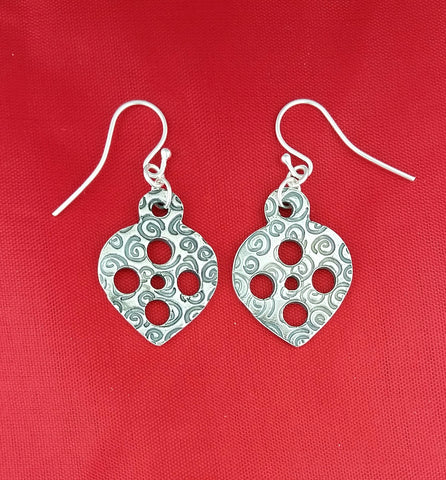 Christmas Earrings spirals