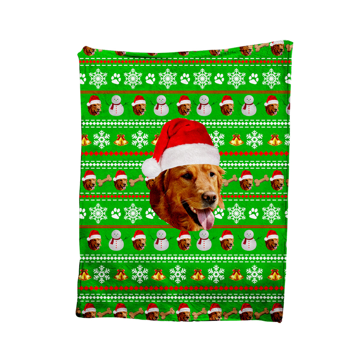 Custom Pet Christmas Blanket