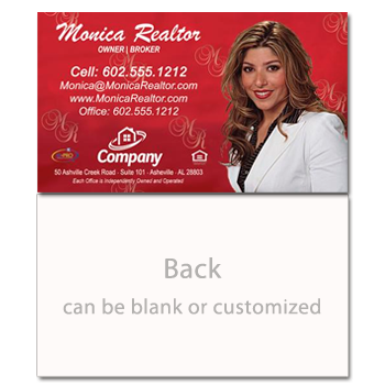 Classic Red Real Estate Card - AGENTestore