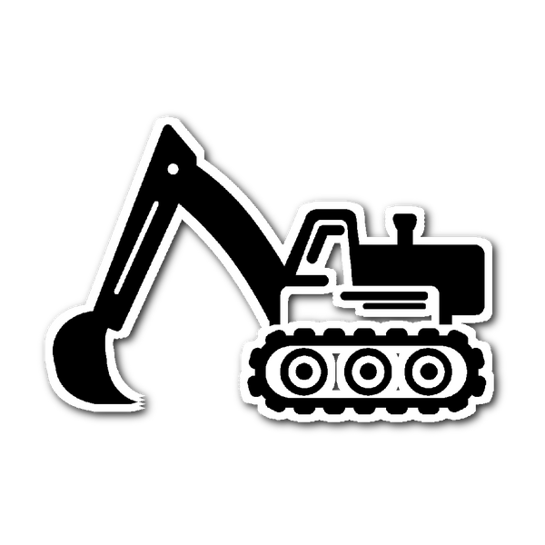 Backhoe (Sticker)