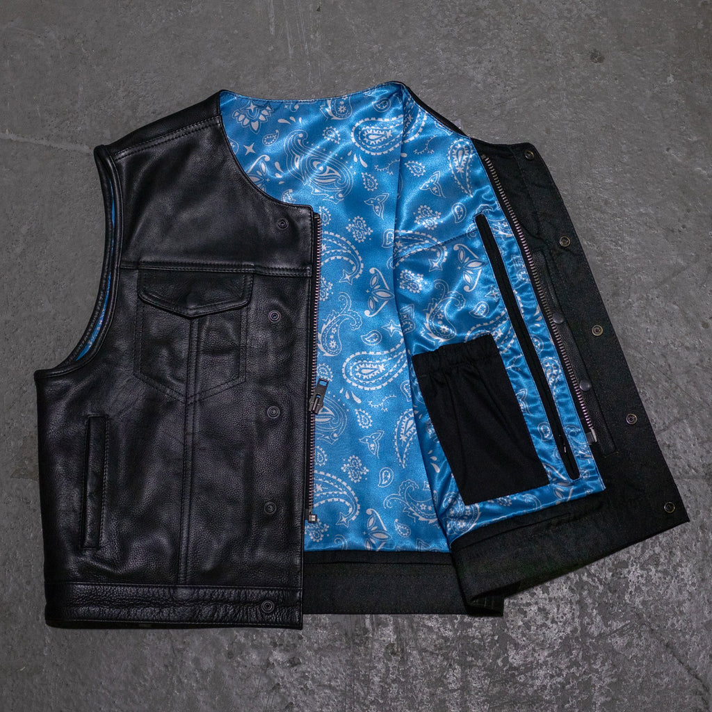 XL - No Rival - Blue Bandana / Black Stitch
