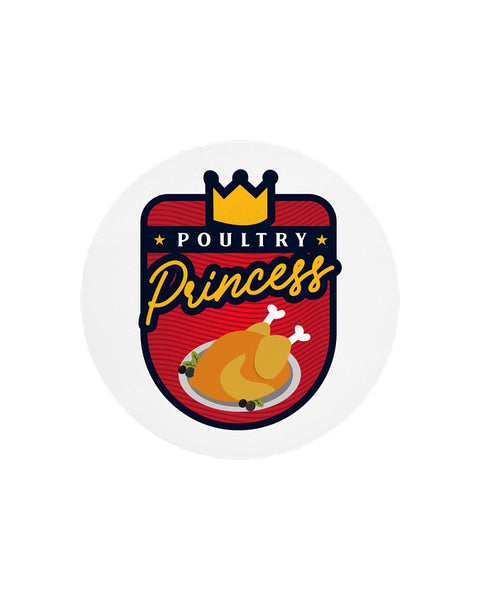 Poultry Princess Circle Cutting Board