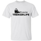Trekker Life Train Cotton T-Shirt - Blk