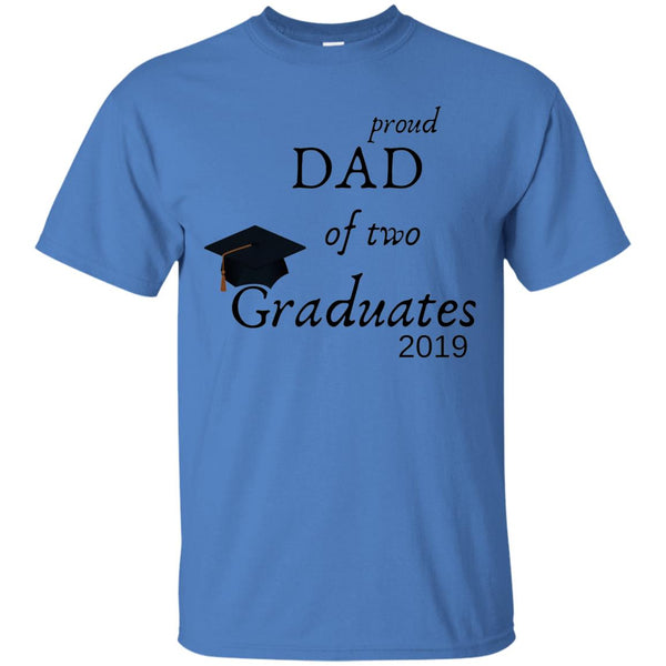 Graduation Royal Blue Tee - Dad of 2 Grads