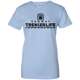 Trekker Life Subway Ladies Cotton T-Shirt - Blk