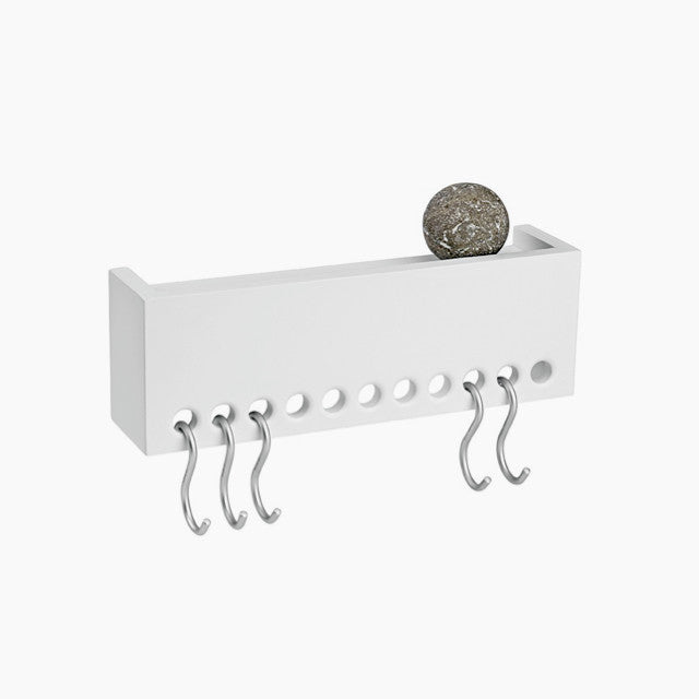 Nomess So-Hooked Wall Rack-30, White-The Fjord Store