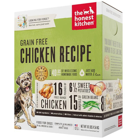 15% OFF: The Honest Kitchen® Force Chicken Grain-Free Dehydrated Dog Food (3 sizes)