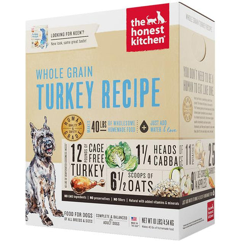 15% OFF : The Honest Kitchen® Keen Turkey Whole-Grain Dehydrated Dog Food (3 sizes)