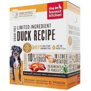 15% OFF : The Honest Kitchen® Spruce Duck Limited Ingredient Grain-Free Dehydrated Dog Food (2 sizes)