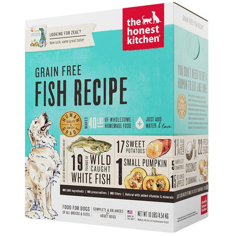 15% OFF: The Honest Kitchen® Zeal Fish Grain-Free Dehydrated Dog Food (2 sizes)