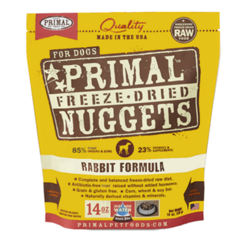 Primal Canine Rabbit Formula (Freeze Dried) Pack of 4